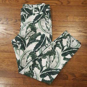 Old Navy Palm Leaf Pixie Stretch Ankle Pant 6r